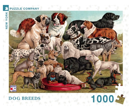 Dog Breeds Puzzle - 1000 pcs