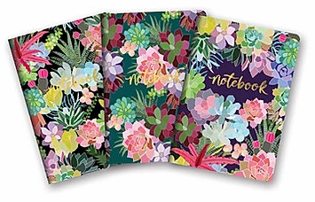 Succulent Paradise Notebook - 3 Styles