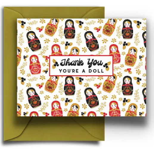 Boxed Notecards - You're A Doll - Thank You