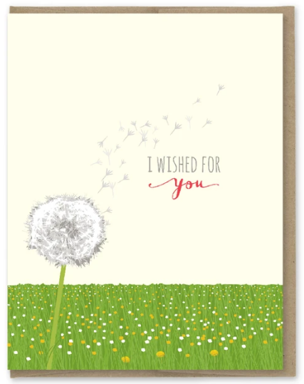 Dandelion Wished for You - Love Card