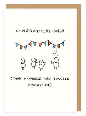Congrats, You Disgust Me - Congratulations Card