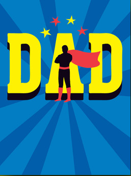 Superhero Dad - Father's Day Card