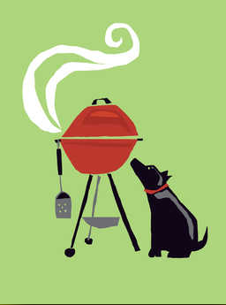 Dog and Grill - Father's Day Card
