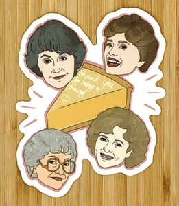 Golden Girls/Cheesecake Sticker