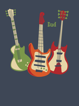 Guitar Trio - Father's Day Card