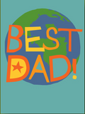 Best Dad World - Father's Day Card