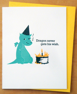 Dragon Wish - Birthday Card