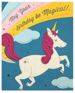 Unicorn Birthday - Birthday Card