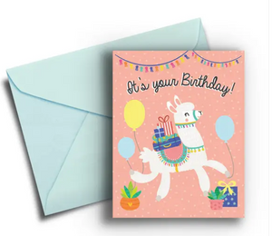 Llama - Kid's Birthday Card