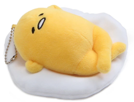 Gudetama Face Up Plush Keychain 5