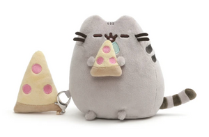 Pusheen with Pizza and Pizza Clip 6""