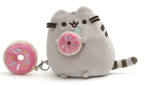 Pusheen with Donut and Donut Clip