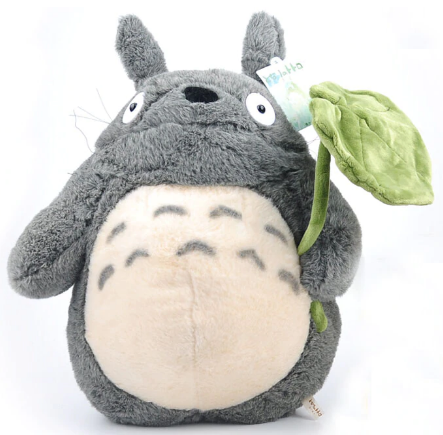 Totoro with Lotus Leaf Plush Large