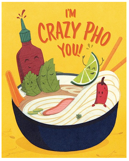 Crazy Pho You - Love/Anniversary Card
