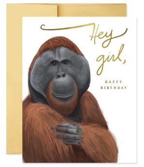 Hey Girl, Happy Birthday - Birthday Card