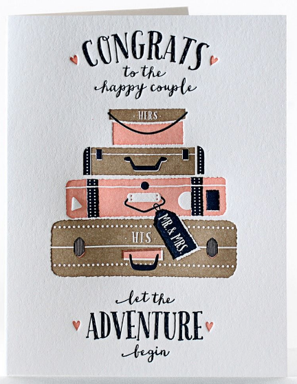 Let the Adventure Begin! - Wedding Card