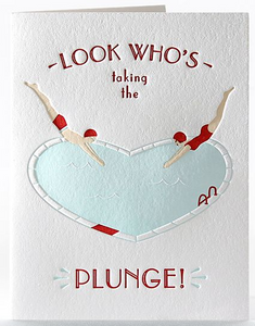The Plunge! - Engagement/Wedding Card