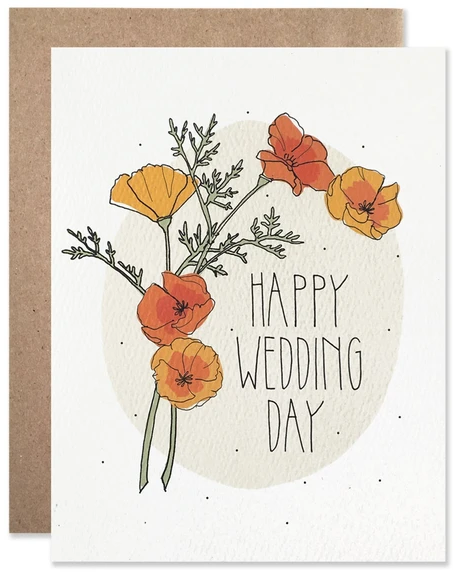 Poppies - Wedding Card