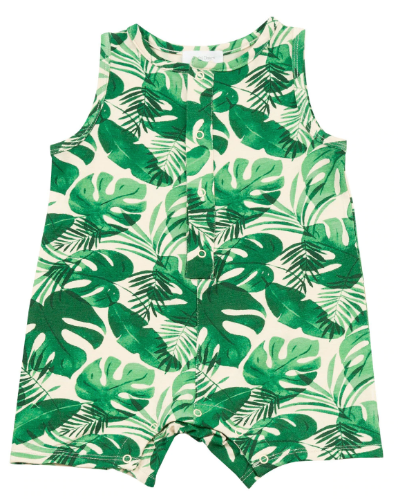 Monstera Deliciosa Sleeveless Shortie Romper
