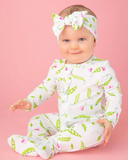 Zipper Footie Sweet Pea w/ Ruffle