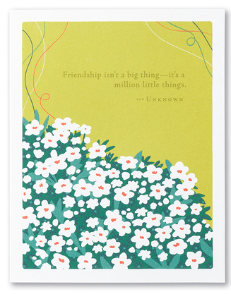 Million Little Things - Friendship/Thank You Card