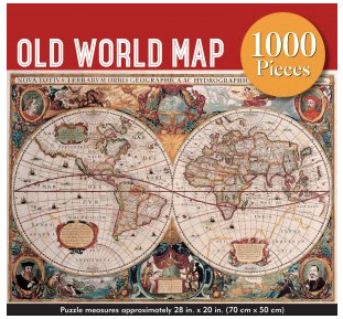 Old World Map 1000 pc Puzzle