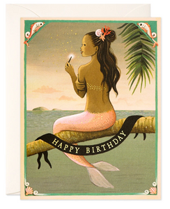 Mermaid Birthday - Birthday Card