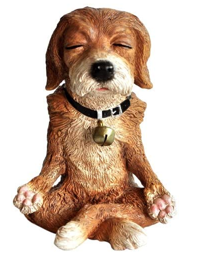 Meditating Dog Figuriine