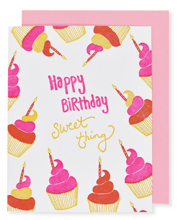 Cupcakes Sweet Thing - Birthday Card