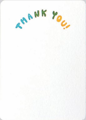 Colorful Thank You - Folio Boxed Notecard Tails