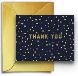 Navy Gold Speckle -Boxed Thank You Cards