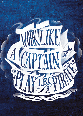 Work Like a Captain - Father's Day Card