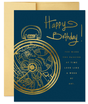 Pocket Watch - Birthday Card