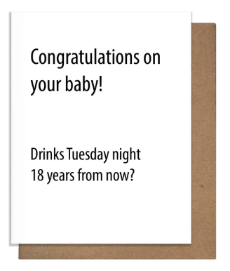 Drinks? - New Baby Card