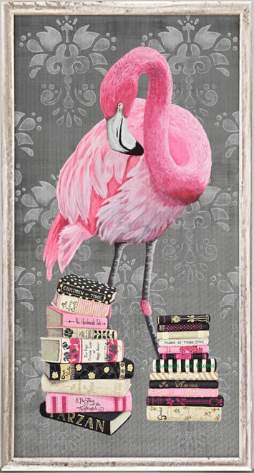 Introvert Flamingo Framed Canvas 5x10