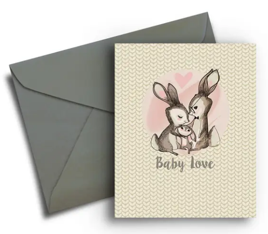 Little Bunnies - Baby Card