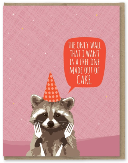 Wall of Cake - Birthday Card