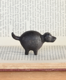Cast Iron Botero Dog Figurine