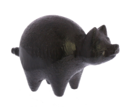 Cast Iron Botero Pig Figurine