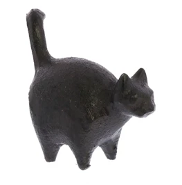 Cast Iron Botero Cat Figurine