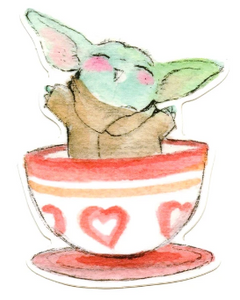 Tea Cup The Child Sticker