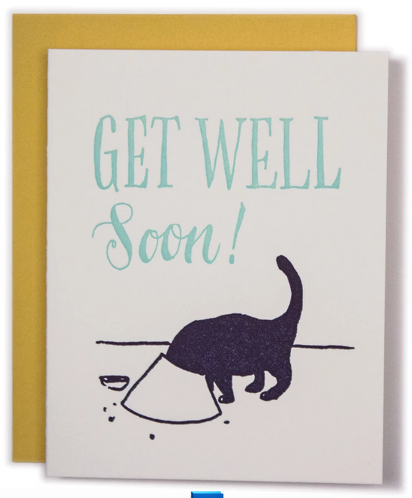 Cat Cone - Get Well Soon Card
