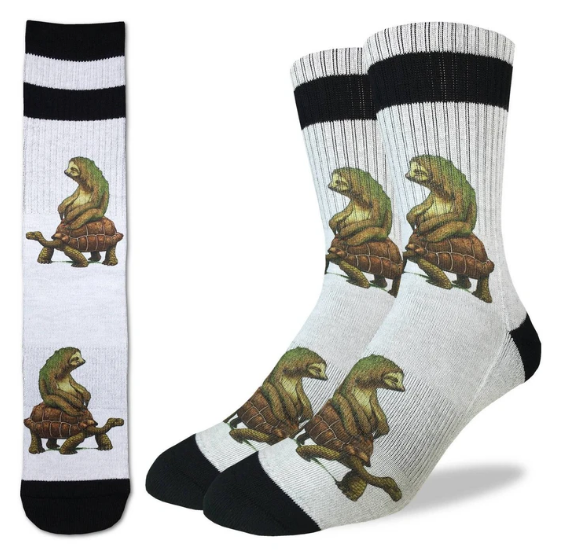 The Tortoise and the Sloth Mens Socks