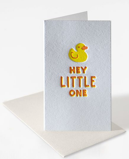 Hey Little One - Mini Notecard/Baby Card