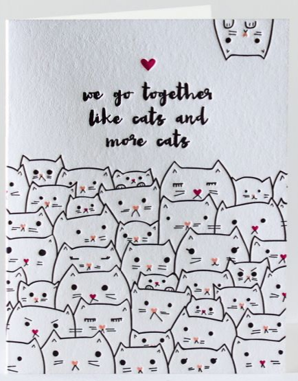 Cats on cats on cats - Love/Friendship Card