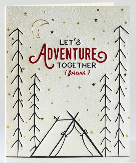 Let's Adventure Together - Anniversary/Love Card