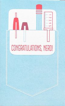 Congratulations, Nerd - Graduation Card
