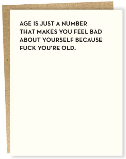 Age is Just a Number - Birthday Card