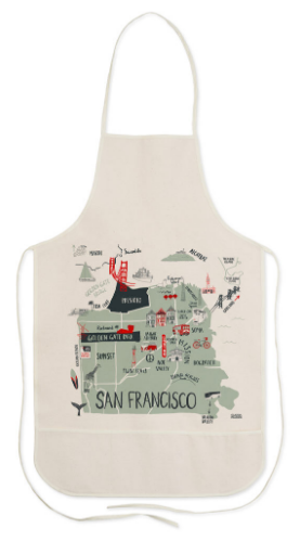 San Francisco Map Apron