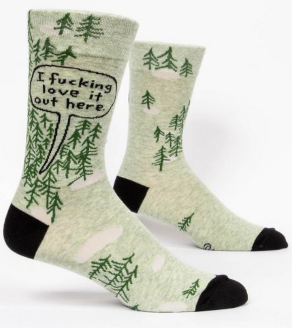F'ing Love It Out Here Mens Crew Socks